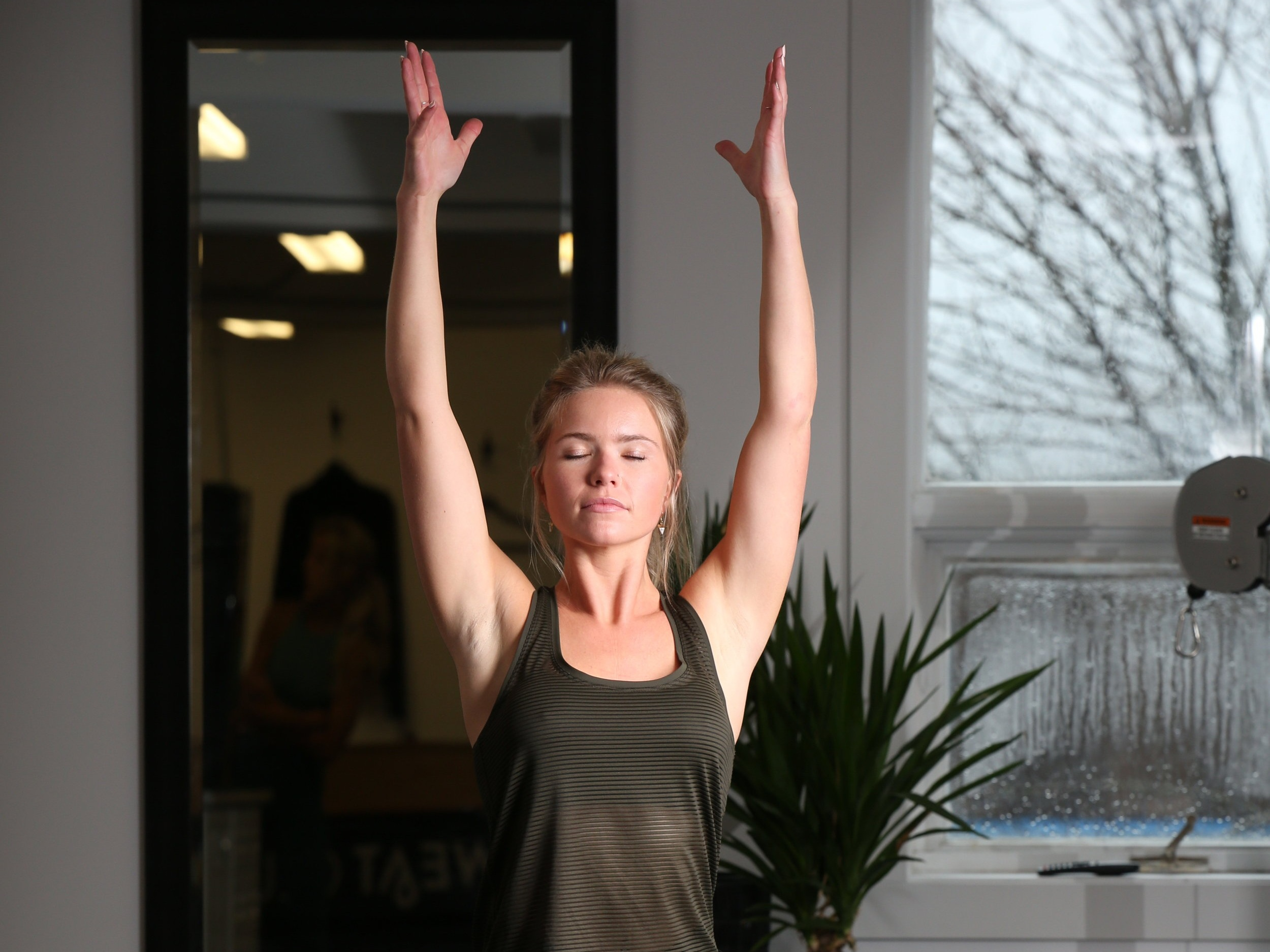 SWEAT & STRETCH - This 60 minute combo class is all about balance. Come for a quick & effective circuit style workout, then unwind with some yoga and deep stretching. Your body will thank you. Please bring your own mat. All levels welcome.