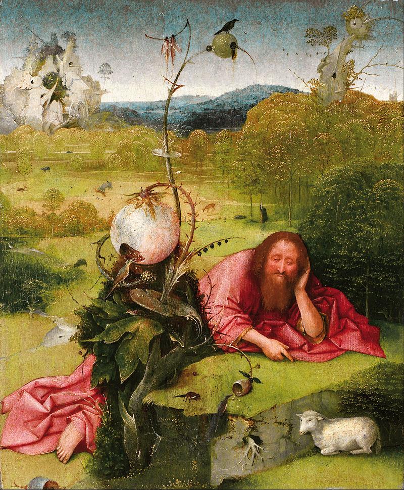 Saint John the Baptist in the Desert  by Hieronymus Bosch c. 1489