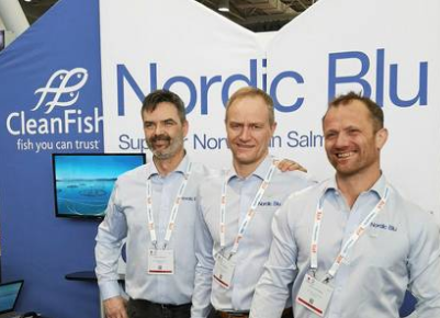 INTRAFISH: Roger Oksheim together with Geir and Orjan Wenberg are in Boston at the seafood fair to promote their joint brand name Nordic Blu.