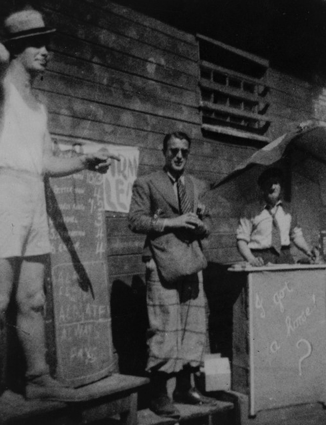 - Bookies at a Mock Race Meeting at Stalag XVIIIA, 1944. The Prisoner Wearing Sunglasses is Believed to be Bruce Murray (Ref: DA-10406-F. Alexander Turnbull Library, Wellington, New Zealand)