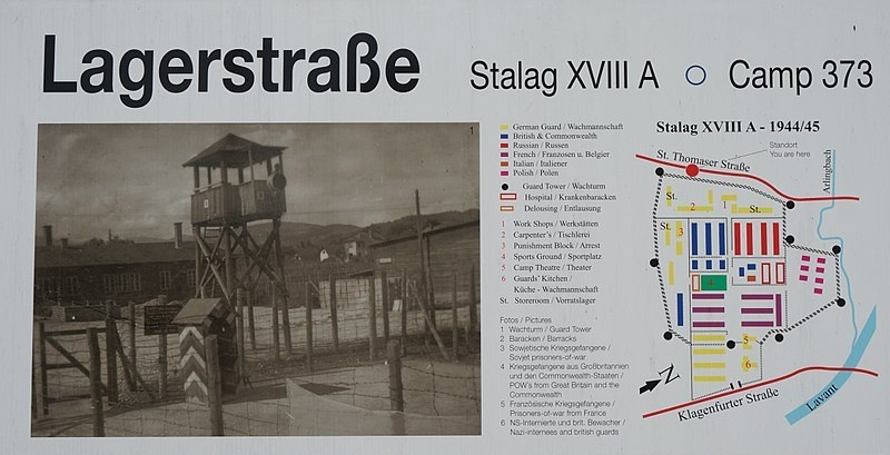 - Guard Tower and Layout of Stalag XVIIIA (Source: Naturpuur)