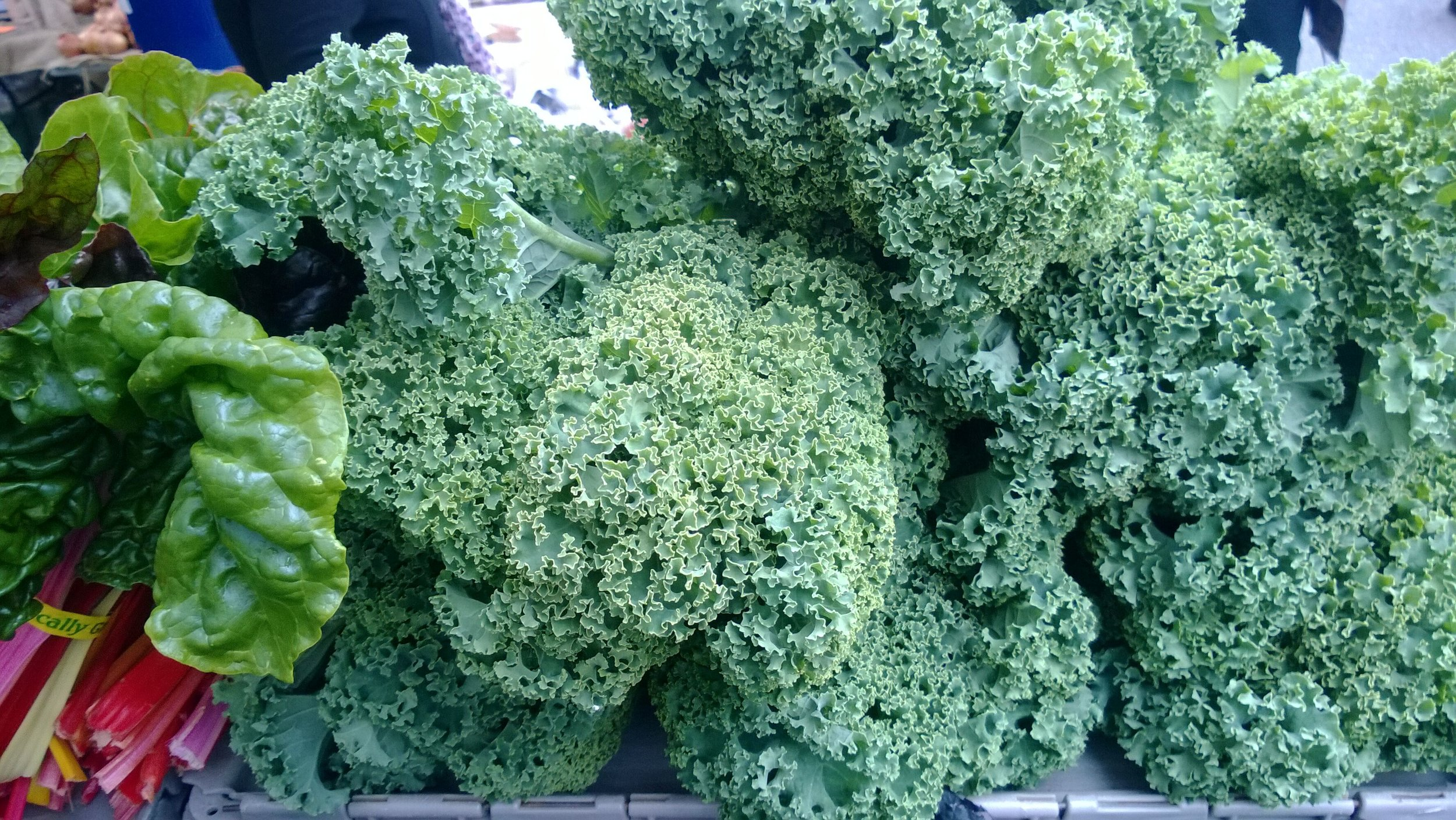 Crisp tasty kale.