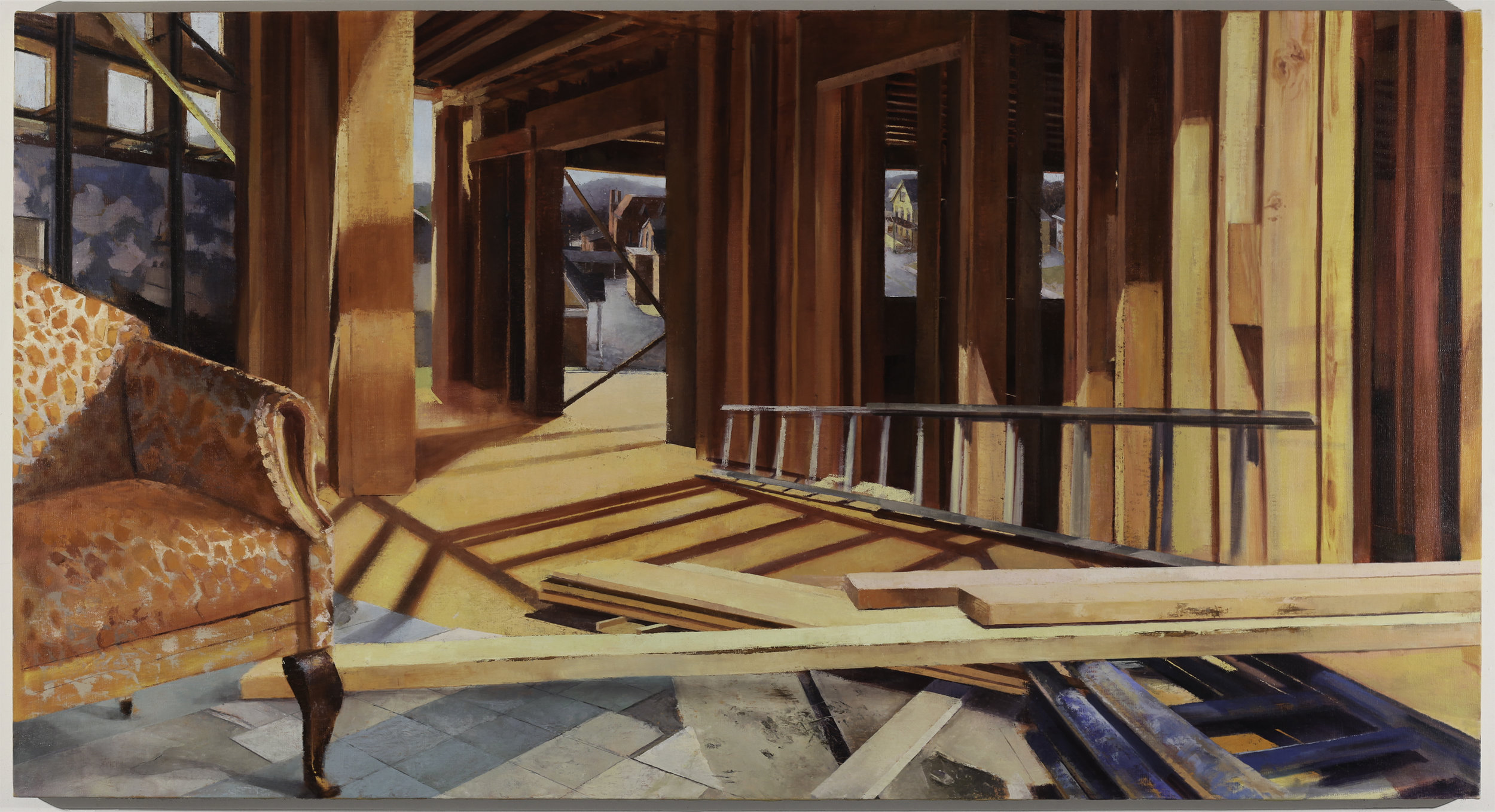 Bergenfield, 2016 oil and acrylic on linen, 40 x 70 in