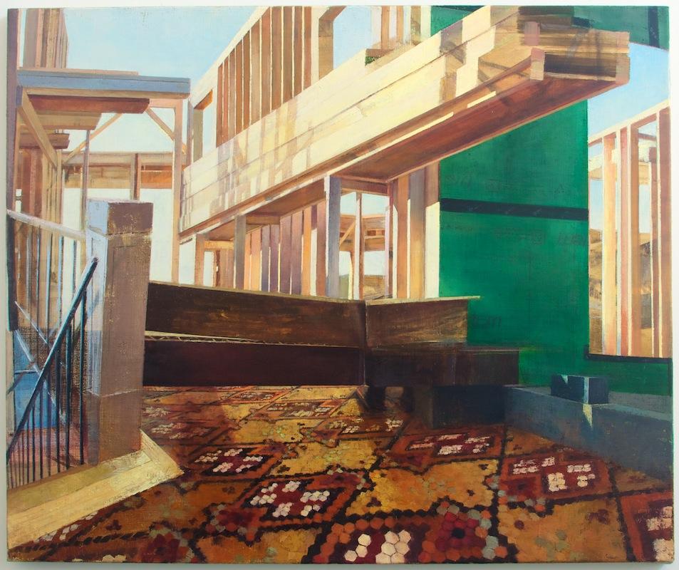 Tiled , 2013 oil on linen, 32 x 36 in