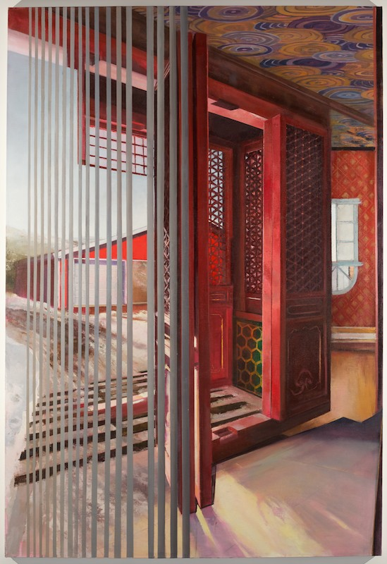 Before The Cattle Guard , 2015 oil on linen, 70 x 48 in