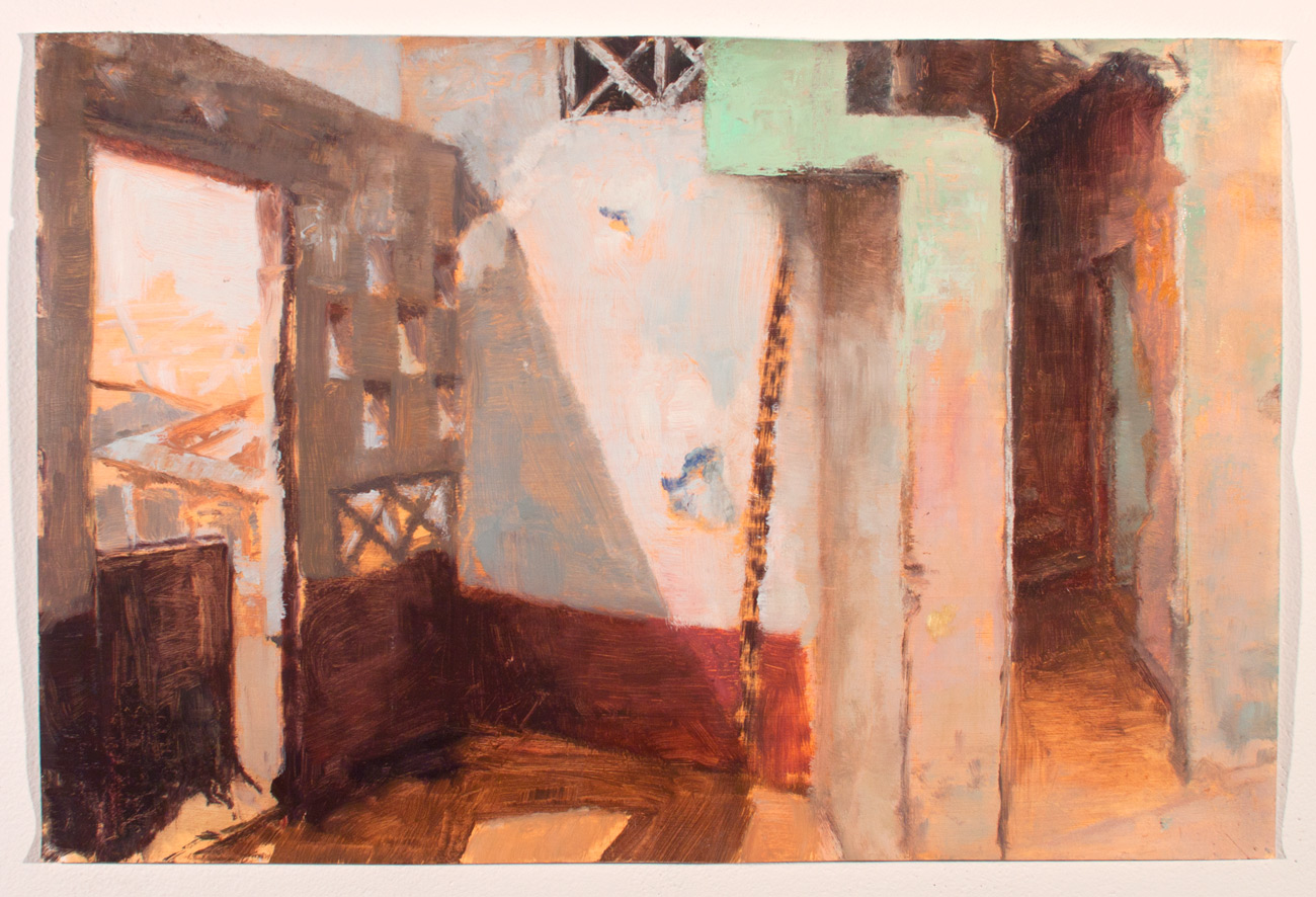Exits , 2011 oil on paper, 8 x 12 in