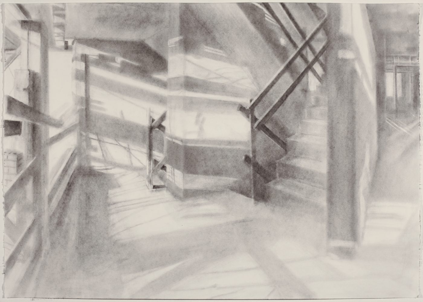 Study for Mural at The Delson, 2018 graphite powder on paper, 18 x 24 in