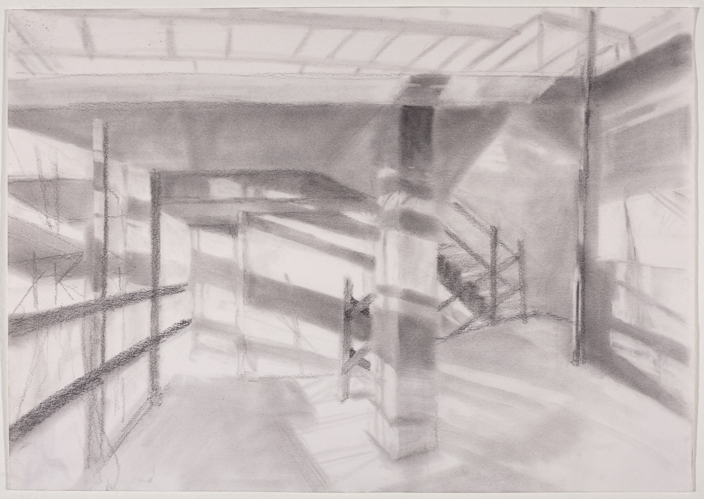 Study for 163rd St Mural , 2018 graphite powder on paper, 16 x 20 in