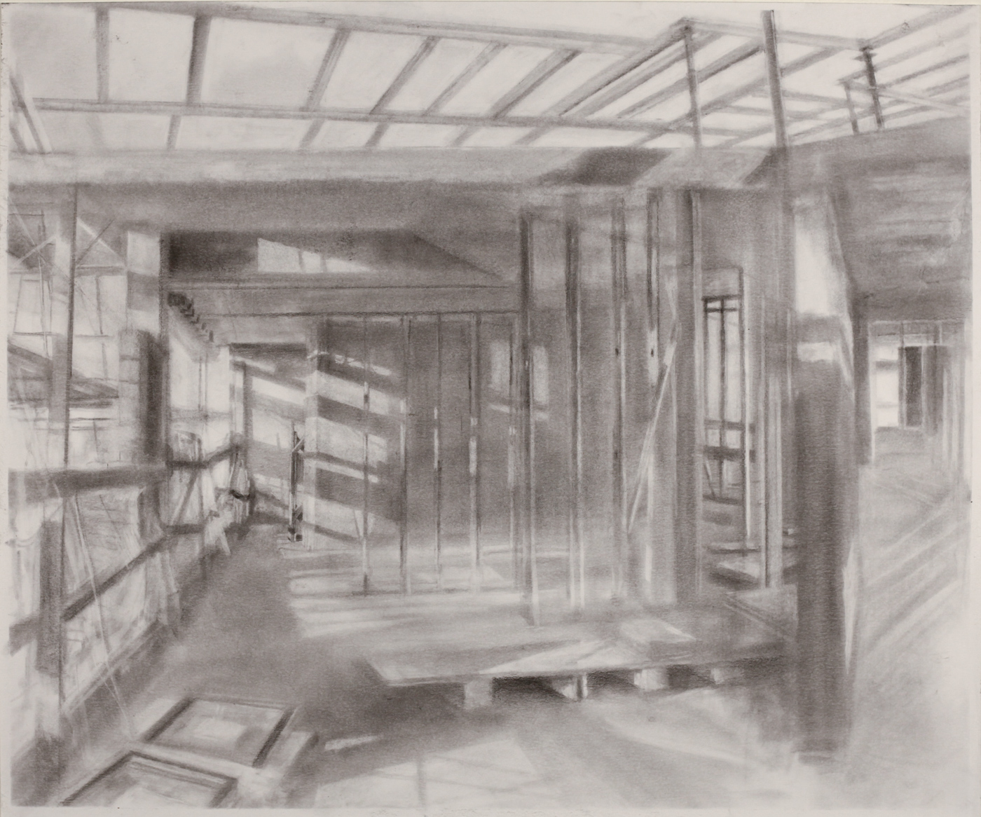 Composite study for 163rd St Mural , 2018 graphite powder on paper, 17 x 20 in  go to    Works on Paper