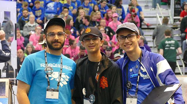 At the worlds competition in Detroit in the Tesla division! We got chosen by the 6th alliance with teams @FRC346, team 5401, and our backup team 2534!