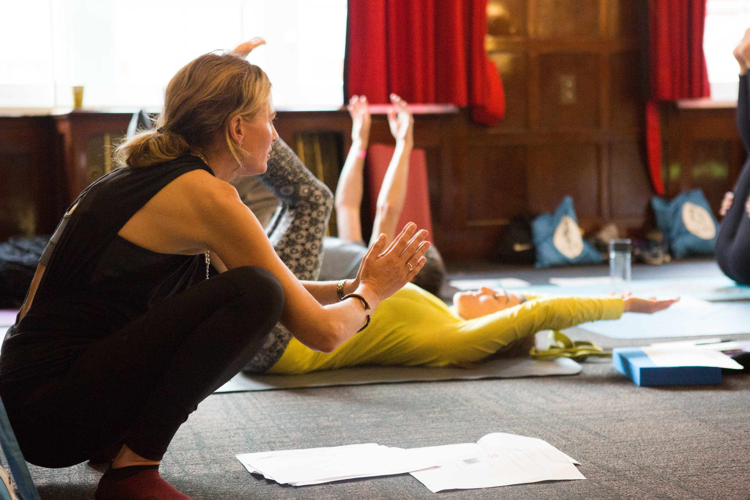 Advanced Yoga therapy trainings - A three year advanced yoga therapy training course continuing in the development of practical therapy skills, pathology models of health and disease, specific application of yoga's methods and tools, and yoga therapy practice management.