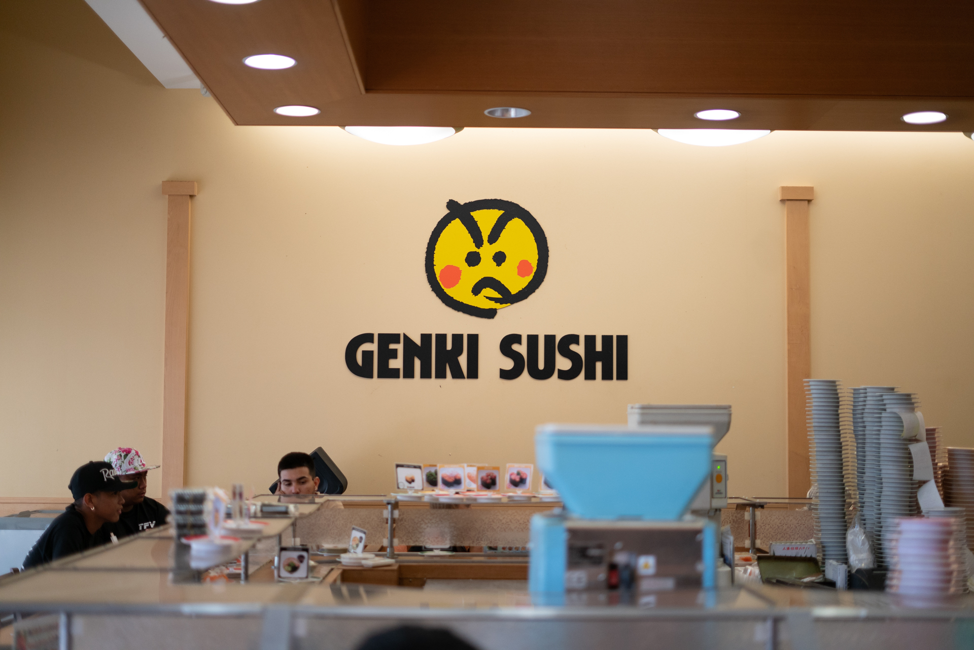 "Genki Sushi - modern sushi restaurant with an unusual feature known as ""kaiten sushi"" (literally translated as ""revolving"")."