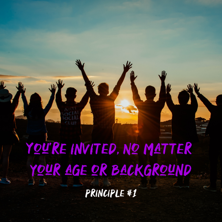 You're Invited no matter your age or background