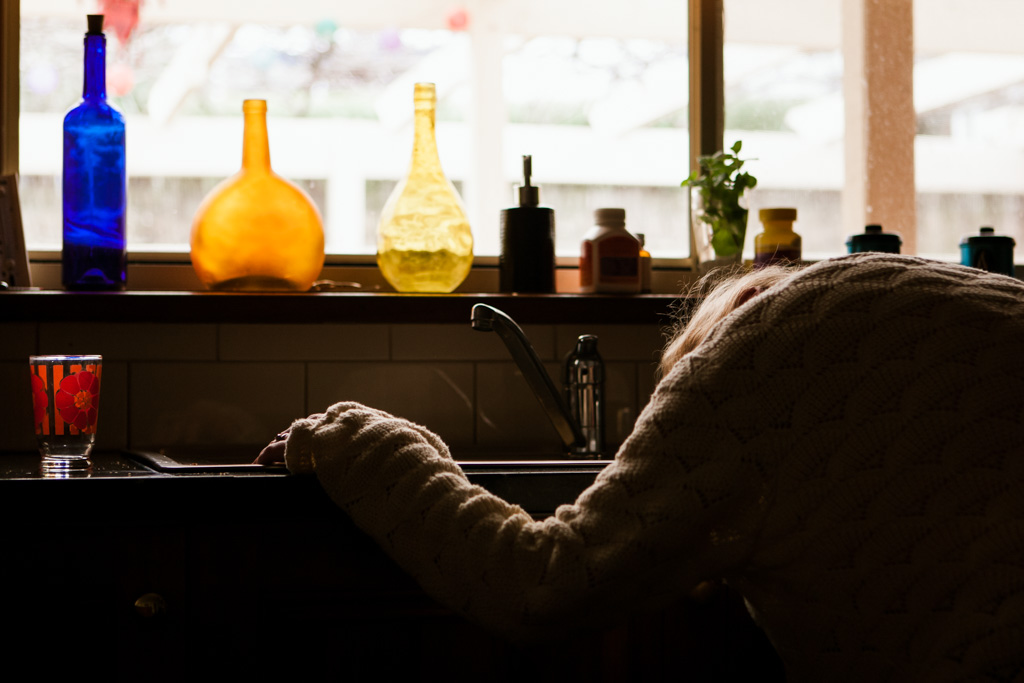 This was a self portrait I captured at my kitchen sink. It was the first time I'd started to connect to my emotions and try to express them. I was still married and in the home we had together. I don't think I've ever shared this photo to anyone until now.