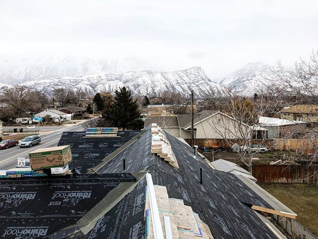 Sneak peak of our current project in Orem, UT. Check this view out! #roofingculture #thedifferenceisinthedetails #construction #crowningyourgreatestinvestment #beutahful