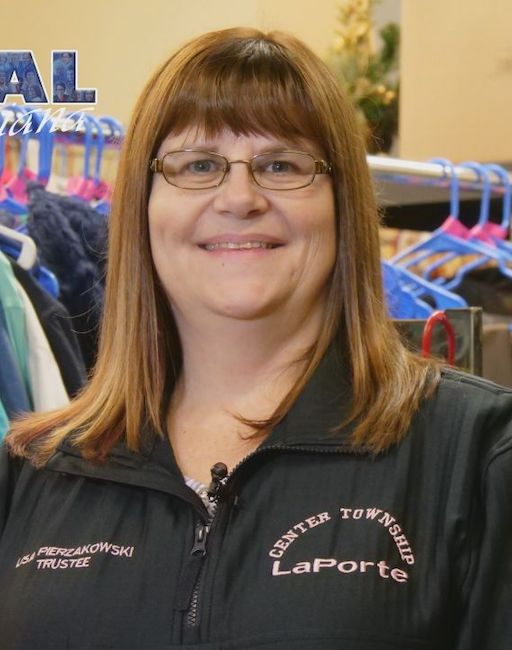 """LISA PIERZAKOWSKI  - Lisa Pierzakowski has been the Center Township Trustee for La Porte County since January 1, 2015. She's been instrumental in securing GED classes, coordinating a monthly budget class, and hosting a healthy eating program for clients called """"Crock Pot Friday."""" She was named the """"2018 Trustee of the Year"""" by the Indiana Township Association. She was also given the Circle of Corydon Award on behalf of Gov. Eric Holcomb for being an exemplary citizen in the state of Indiana."""