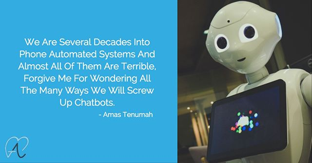 How Many Different Ways Will We Screw Up Chatbots? 🤨  Check Out My Podcast Episode, 'You Are Not Ready For AI In Service: http://ow.ly/pL1A50uGiqm . . . . . . . . . . . . . . . . . . . . . #AmasTenumah #customerservice #customerservicemanifesto  #business #customer #happycustomer #entrepreneur #happycustomers #customersatisfaction #customerexperience  #callcenter #customers  #contactcenter