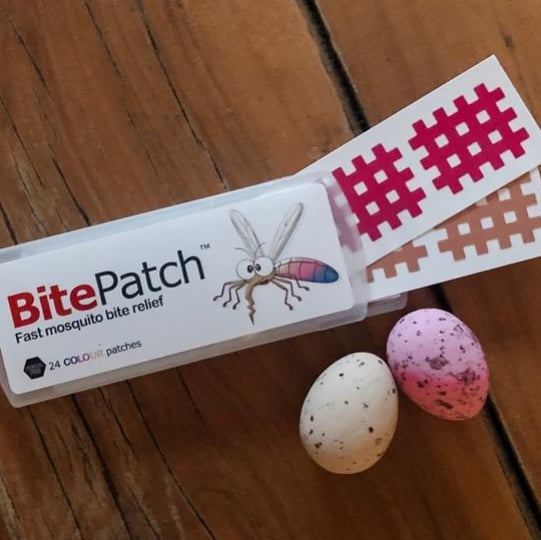 Happy Easter. Before you head off on holidays don't forget your BitePatch and enjoy an itch free break. Don't Scratch it.  Patch it! #mosquitobites #easter #midgebites #mosquitobiterelief #holidayseason #bitepatch #itchrelief #insectbites #cocoachocolateau