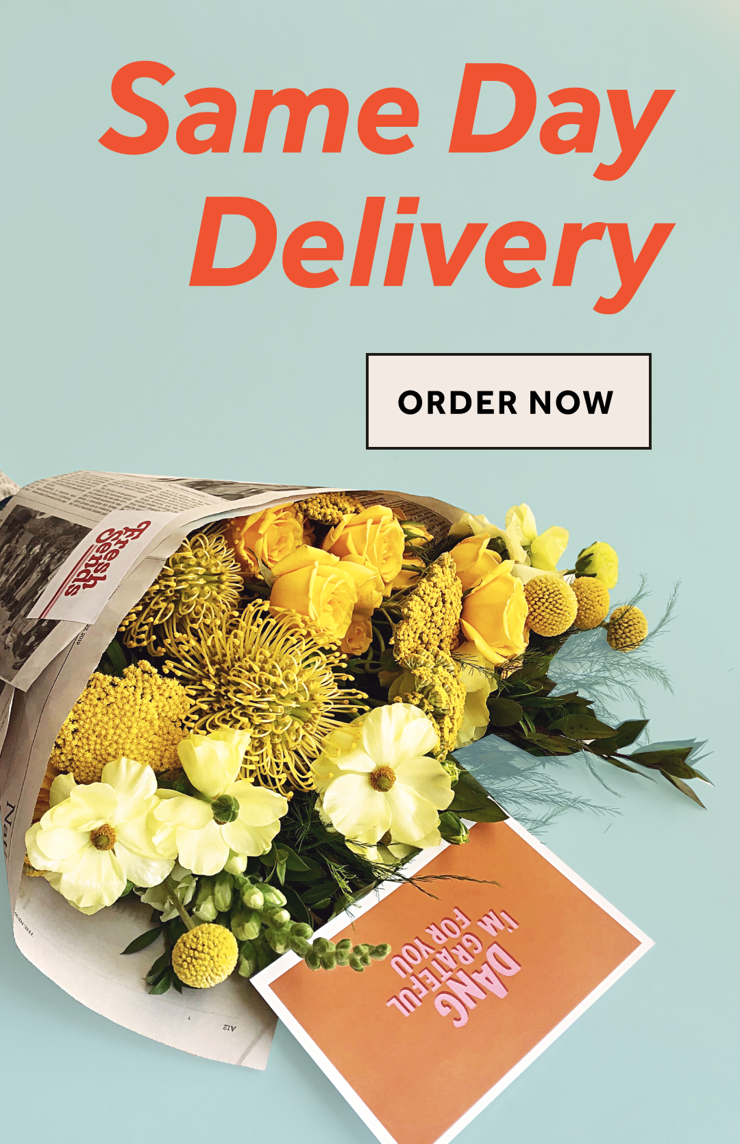 Order by 11am for same day delivery.