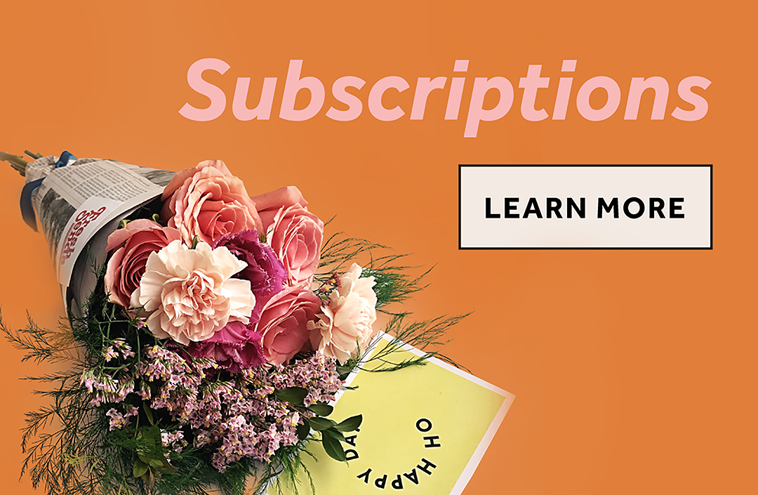 What's better than receiving flowers once a month? We can't think of anything.