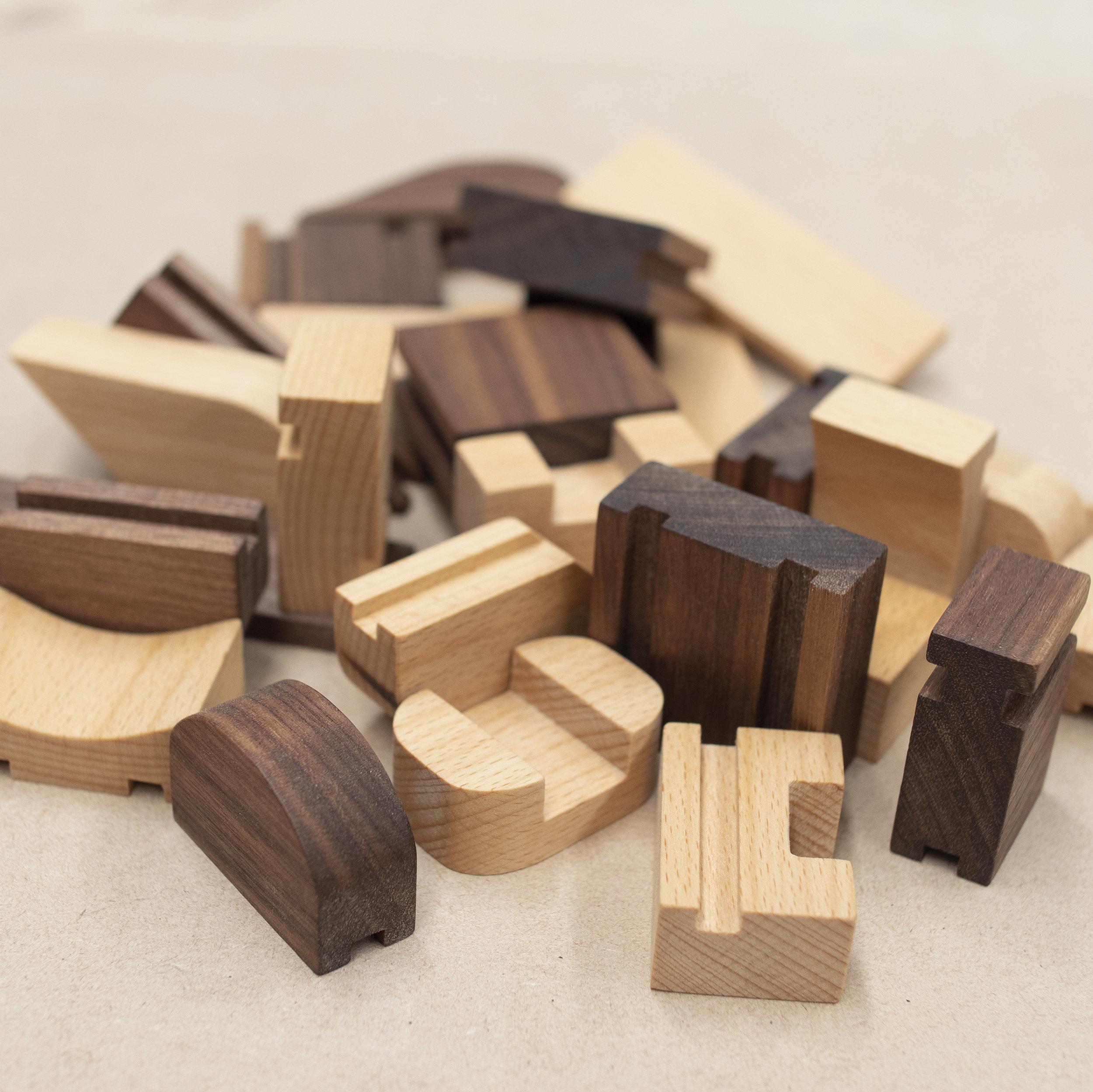 Custom made wooden blocks