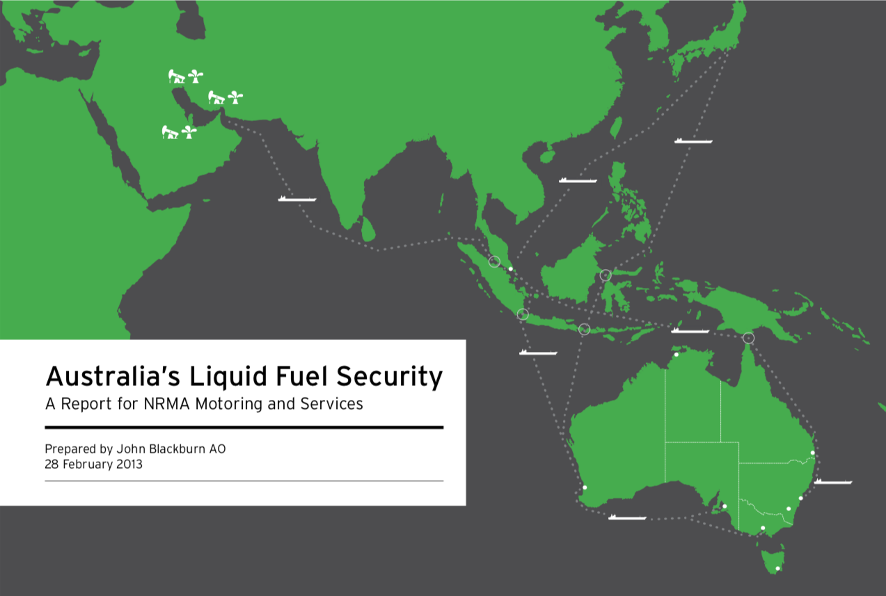 """Australia's Liquid Fuel Security Part 1 - As the world's ninth-largest energy producer, Australia has abundant renewable and non-renewable energy resources. Despite these resources, we are heavily dependent on imports of refined petroleum products and crude oil to meet our liquid fuel demand. This import dependency has increased in recent years.The very small consumption stockholdings of oil and liquid fuels in Australia, combined with what appears to be a narrow assessment of our fuel supply chain vulnerabilities, does not provide much confidence that the strategic risks to our fuel supply chain are well understood and mitigated by our nation's leaders, the business community or the population at large.In essence, we have adopted a """"she'll be right"""" approach to fuel security, relying on the historical performance of global oil and fuel markets to provide in all cases.Download the Report"""