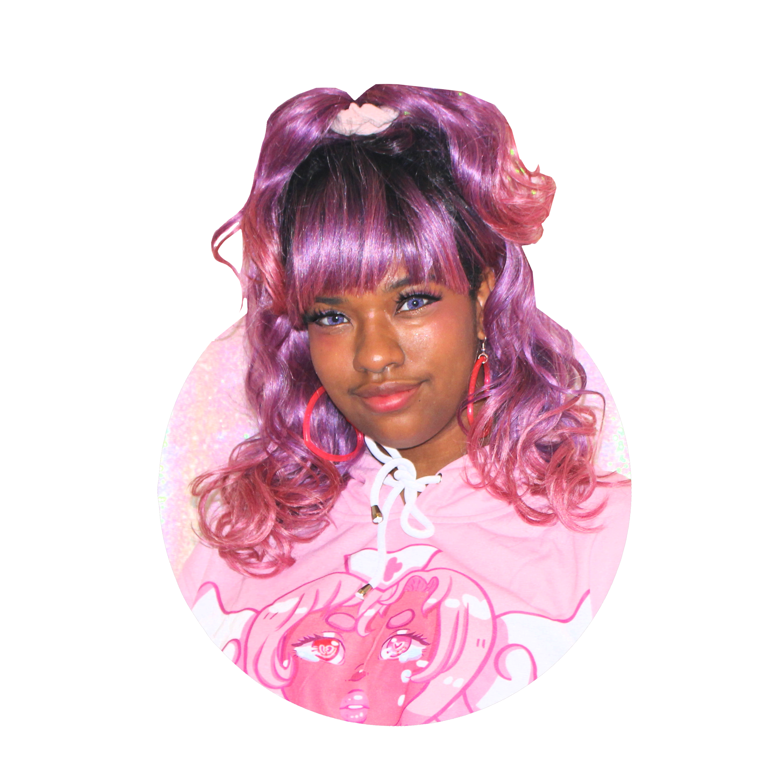Callie - Black, plus sized, non-binary, and full of rage, Callie is the owner of Ota-Q Apparel and always trying to encourage others to love themselves and feel cute!More about Callie