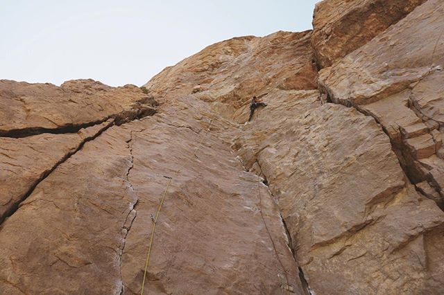 Climbing in Bishop this weekend with my one and only @taraharder #climbing #owensriver