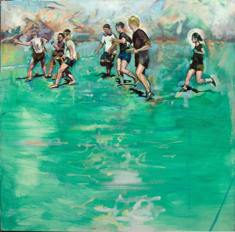 the painting VS drawing soccer match - after Degas' spartan youths