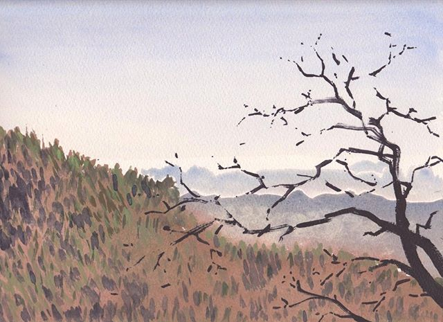 Gouache in Niko from 2010 travels in Japan  #Gourche #travelpainting #travelsketch #Landscapepainting #instagood