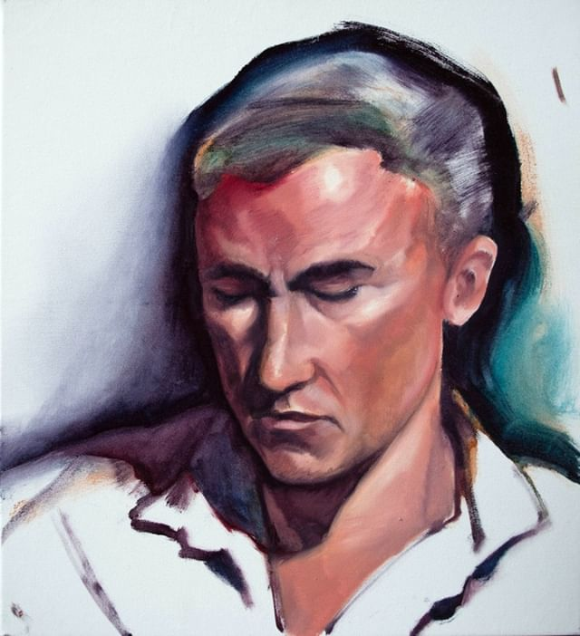 Bruce, oil on canvas - from the 2015 portrait residency project at RMIT first site⁣ ⁣ #oiloncanvas #melbourneartist #portraitpainting #oilpainting #paintingprocess #2or3hourpainting #speedpainting #firstsitegallery