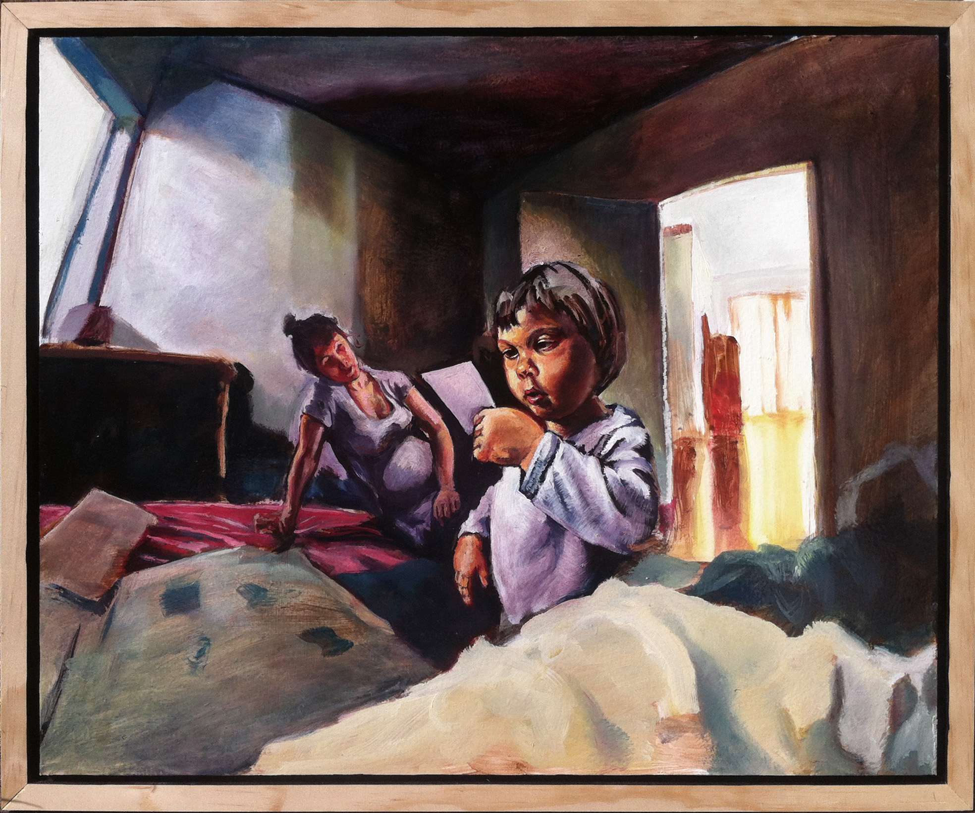 07 Girl reading a letter 66x55cm 2016.jpg