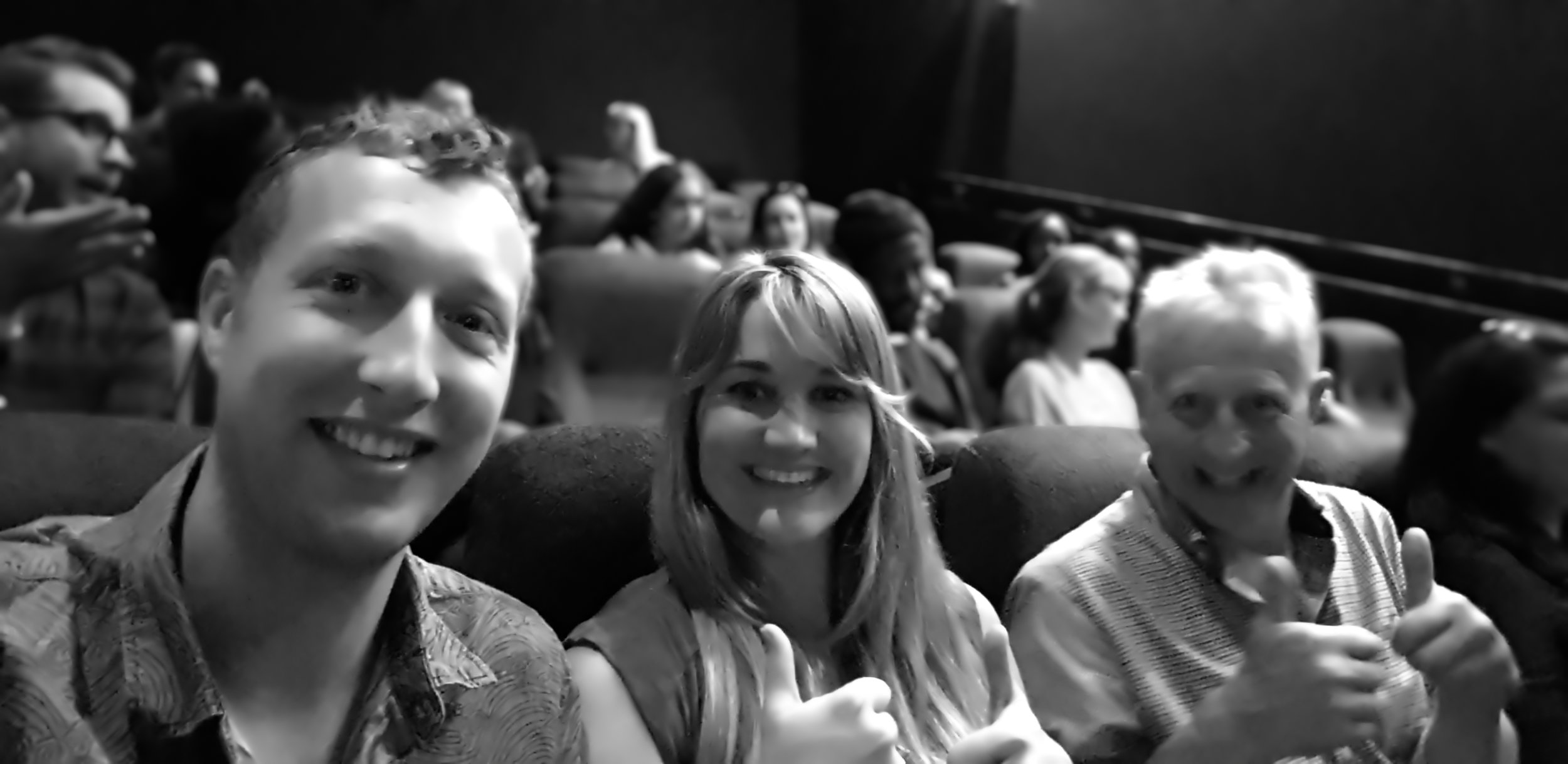 The team excited to be at the ROCKS cast and crew screening! - London July 2019