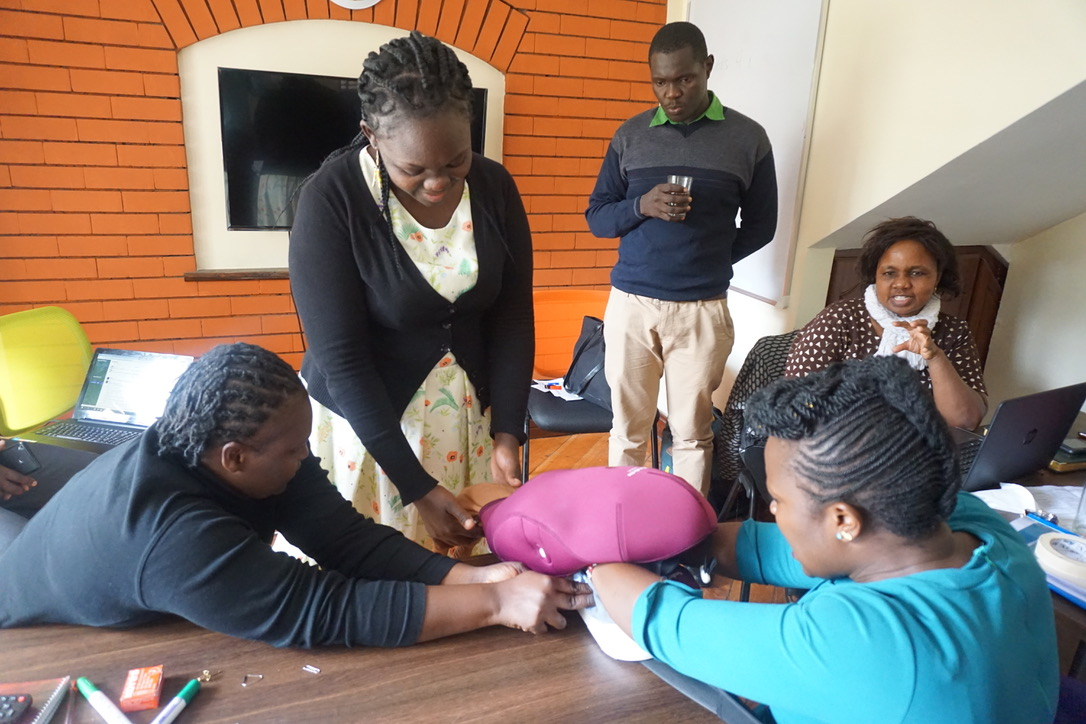 Apprentice Nurse Mentor Janet Achieng during her training session in our training room.