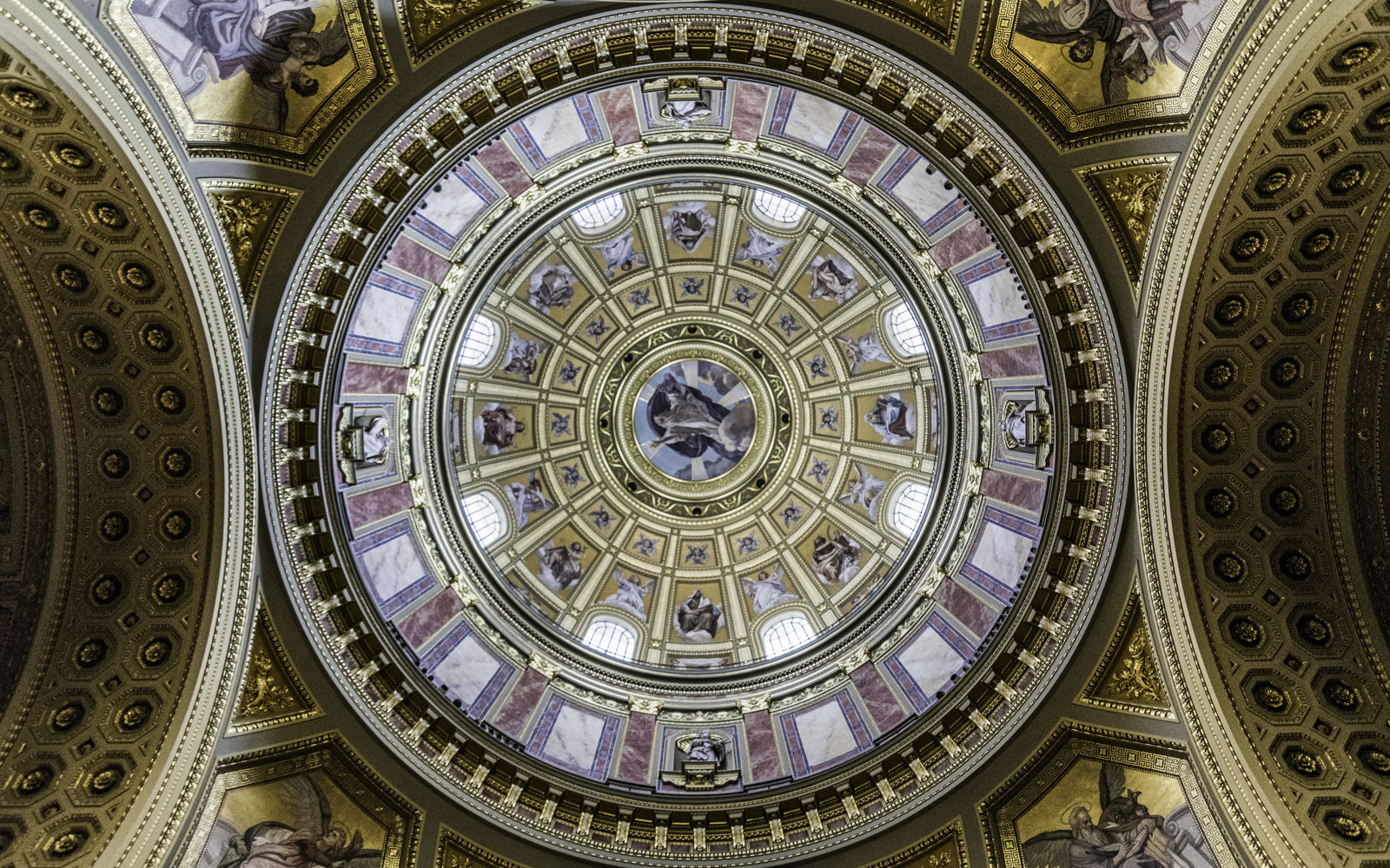 One of the domes in ST.Stephen's Basilica.