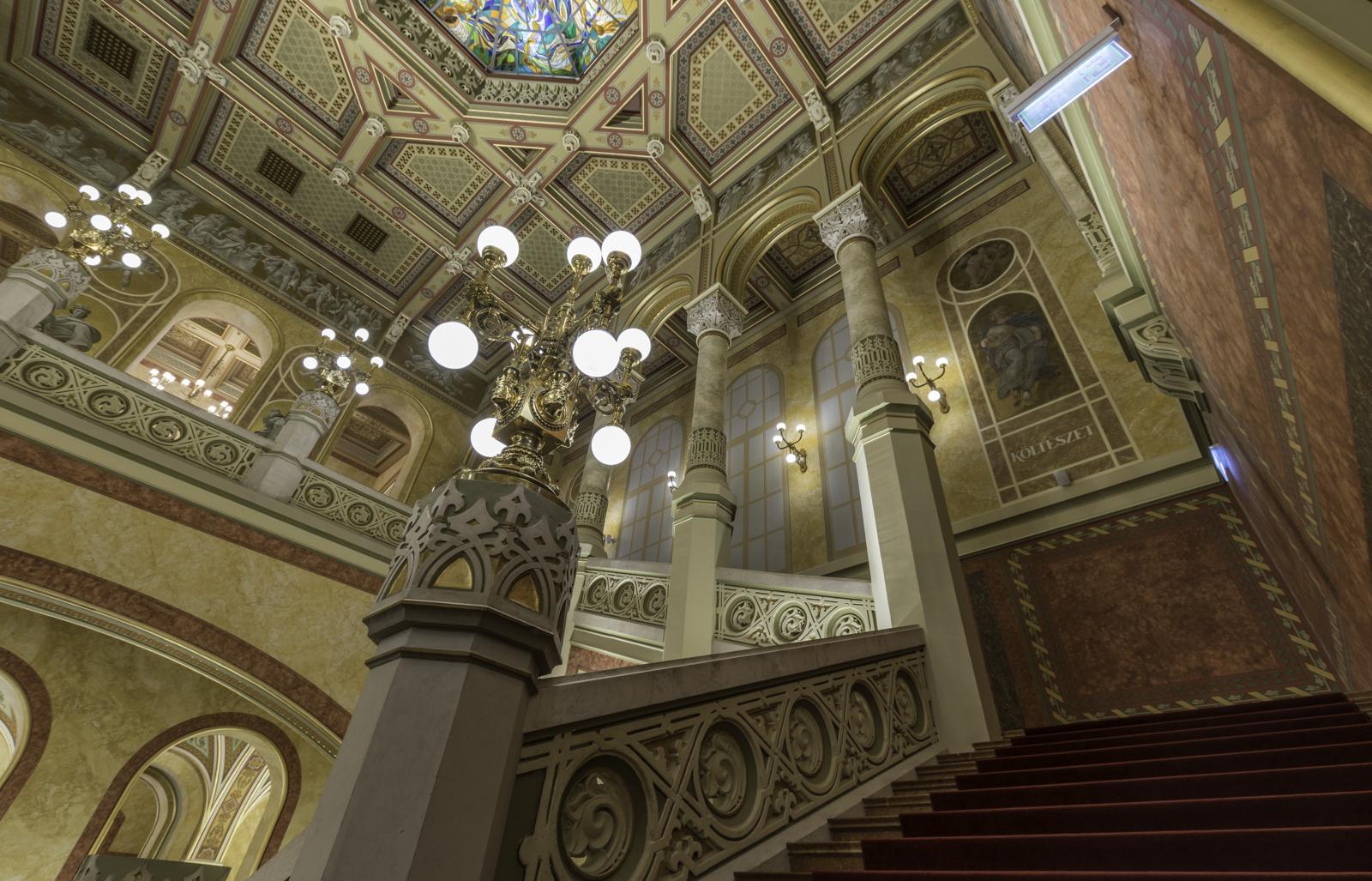 Inside of the Vigado concert hall.