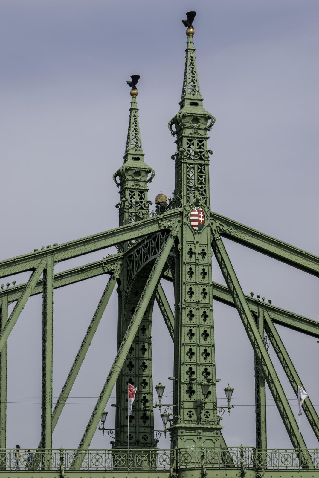 Details of the liberty bridge.