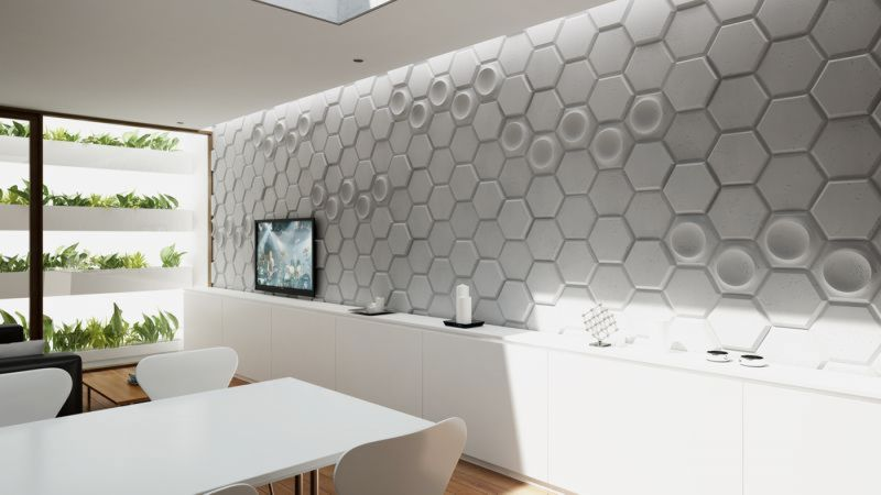 ARCHITECTURAL CONCRETE SLABS 3D - 3D panels can be used as individual components or decorative element complementary to 2D panels.