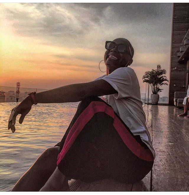 You can change the longitudes and lat, but that don't change the attitude and facts.. Smile, Drink water and Mind your business . . . . . . #ashimawanders #tbt #travelblogger #blackgirlmagic  #travelista #sofetravel #sunset  #rooftop #mhotel #hochiminhcity  #vietnam #southeastasia