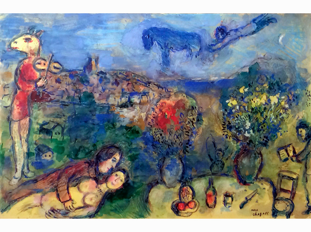marc chagall girl in pursuit : marc chagall wikipedia :  marc chagall les mariés de la tour eiffel en 2020/2021