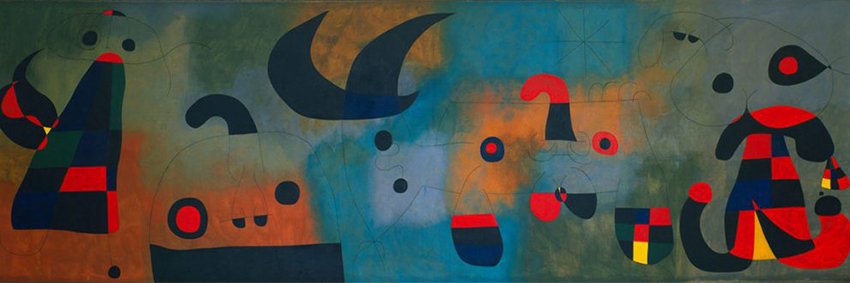 The artwork  Mural Painting , by Joan Miró, present at the exhibition.