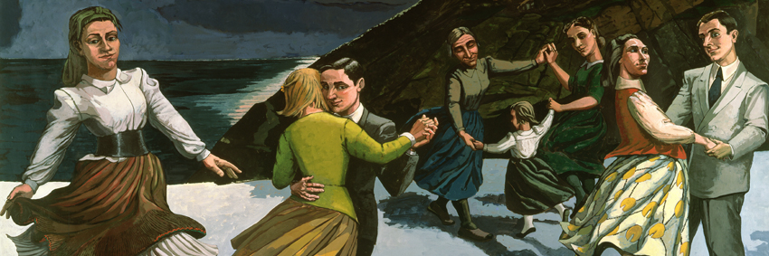 Detail from  The Dance , by Paula Rego, present at the exhibition.