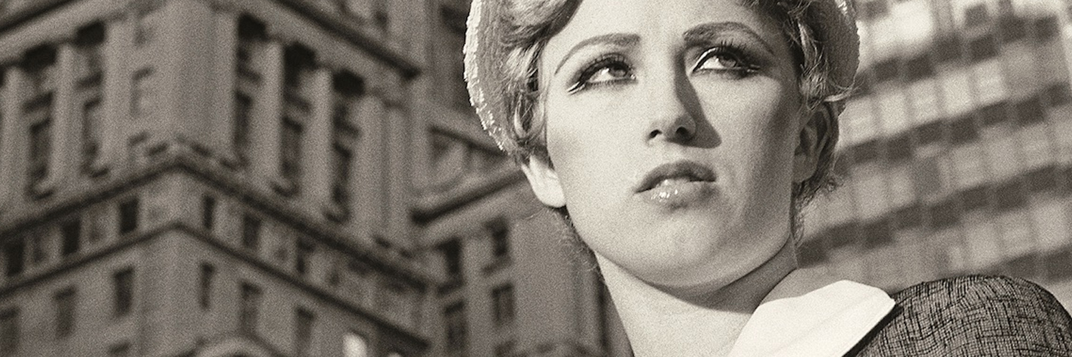 Detail from the artwork  Untitled Film Still #21  (1978) ,  by Cindy Sherman, present at the exhibition.