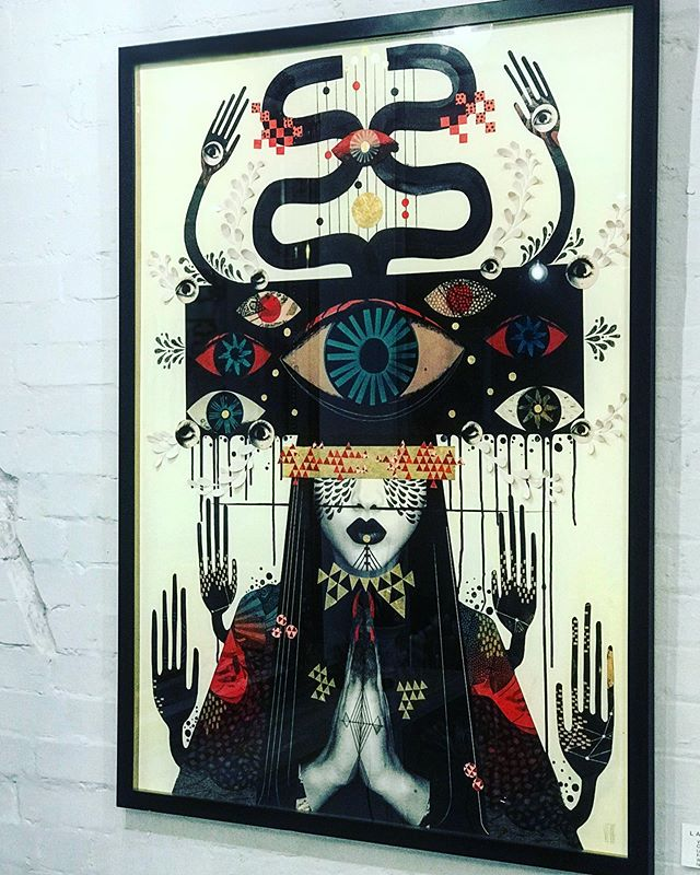 COSMIC ELEMENTS original collage by @victoriatoppingart is on special@summer offer!!! Was £2500 Now £1800!!! Bespoke framed with gold reveal ready to hang. DM the gallery for enquiries this weekend. Only one of these babies in existence so be quick before she's gone. #cosmicelements #originalcollage #art #contemporaryart #victoriatoppingartist #loveart #summermadness #treatyourself #originalart #she