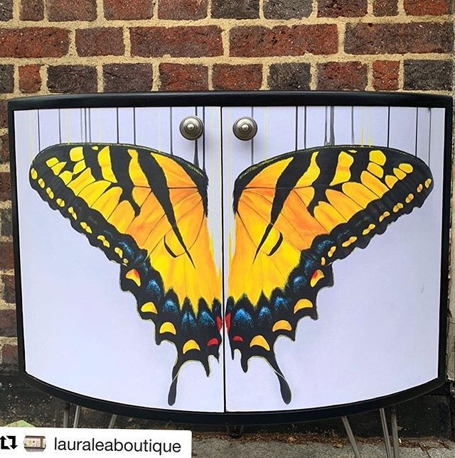 Have you followed our @lauraleaboutique we have a massive selection of homewares and gift ideas. This gorgeous upcycled cabinet is on special offer right now in our awesome summer sale!!! #Repost @lauraleaboutique with @get_repost ・・・ SPECIAL SATURDAY OFFER 25% off this gorgeous up cycled G-Plan corner cabinet lovingly restored by @mucknbrass featuring 'Kissed by the Sun' a classic @louise_mcnaught_artist butterfly piece. Measuring 64x45x70cm DM the gallery for delivery costs be quick only one in stock Was £495 Now £370 #summersale #sunkissed #butterly #cabinet #fineart #contemporary #oneinstock #art #gallery #boutique #leytonstone #lauraleadesign #mucknbrass #louisemcnaught #louisemcnaughtart #design