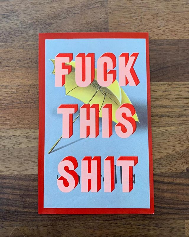 Who's got a case of the Mondays? FUCK THAT SHIT with a 'FUCK THIS SHIT' screen printed vintage flash card by @realhackneydave going online tonight and in stock in our east London gallery NOW!! DM to reserve your favourite and remember we are offering 10% discount on everything until@end of September using code : SUMMER19 #fuckthisshit #art #screenprinting #contemporaryart #pottymouth #mondaymood #realhackneydave #summer