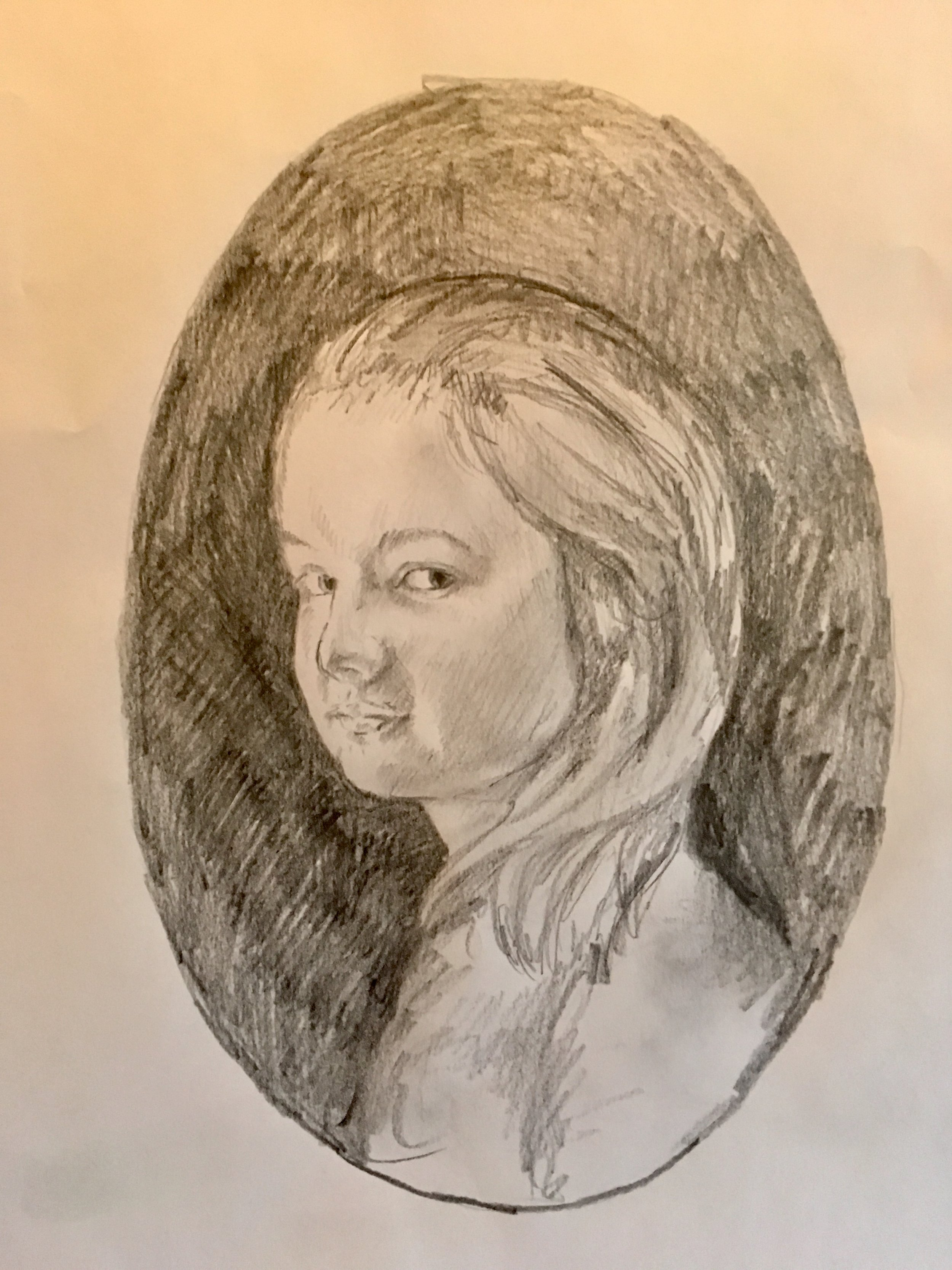 The initial Pencil Sketch