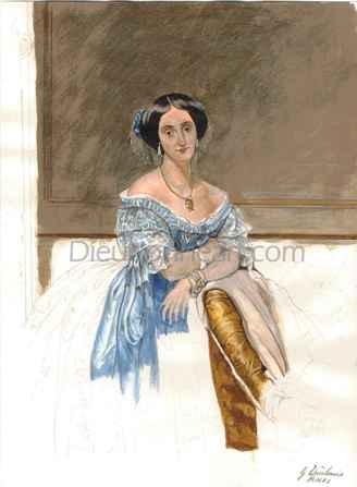 - Fig 4, A Watercolour sketch after a painting by Ingres.