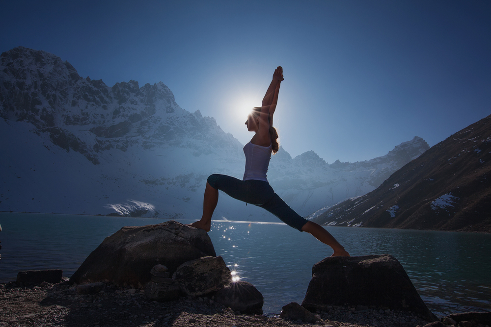 Mountain retreat and yoga Alps