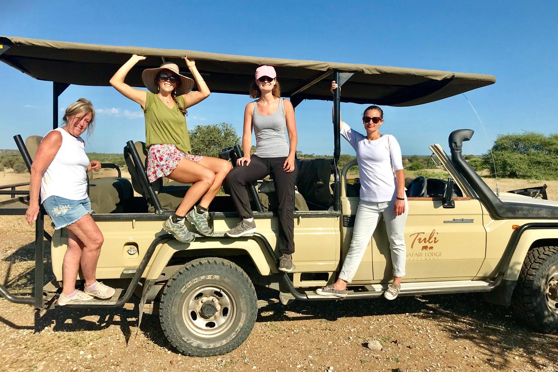 Safari jeep drive Africa yoga retreat